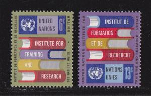 UN - NY # 192-193, UNITAR, Mint NH, 1/2 Cat.