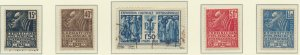 France Stamps Scott #258 To 262, Mint Hinged, #262 Is Used, #258 No Gum - Fre...