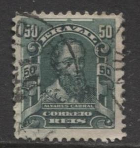 Brazil - Scott 176 - People Definitives Issue -1906 - Used - Single 50r Stamp