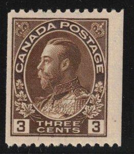 CANADA - 3c Brown Admiral Coil SC134 Mint