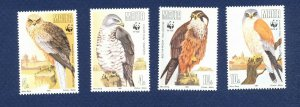 MALTA - Scott 779-782  - FVF MNH - BIRDS WWF  - 1991