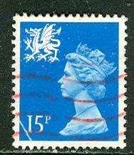 Great Britain, Region, Wales; 1989: Sc. # WMMH26: O/Used Single Stamp