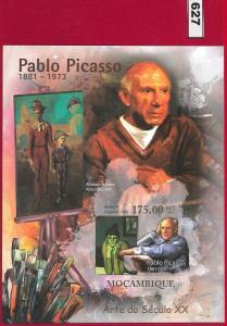 627 -  MOZAMBIQUE -   2011   IMPERF SHEET: Pablo Picasso, 20th Cent. Art