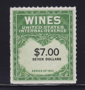 RE178 XF Wine revenue stamp unused with nice color cv $ 100 ! see pic !