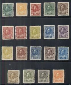 CANADA #104-22, 184 Complete set, Geo V, og, NH except #110,112 LH, Scott $2,757