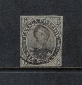 Canada #2 Used Fine Light Cancel With Tiny Cut In Top Margin **With Cert.**