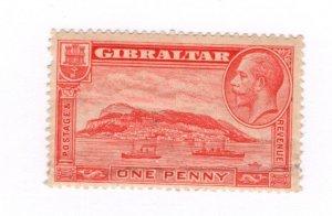 Gibraltar #96a MNH Crease - Stamp CAT VALUE $22.50