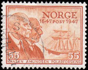 Norway Scott 287 Nansen & Amundsen Used