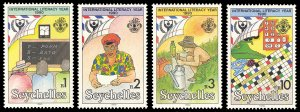 Seychelles 1990 Scott #712-715 Mint Never Hinged