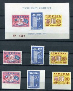 Liberia 1952 Un Issue Imperf Sheet+Imperf and perf stamps MLH 6235