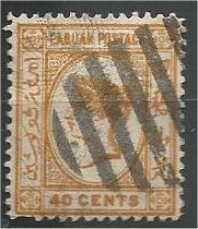 LABUAN, 1892, used 40c, Queen Victoria  Scott 39