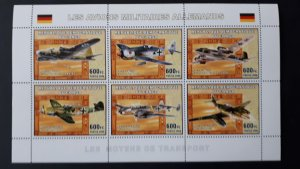 Aviation - Planes - Germany - Congo 2006 - sheet + compl. of 6 ss perf ** MNH