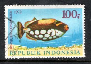INDONESIA 836 Spotted triggerfish Highest value in set of 3 SCV $5
