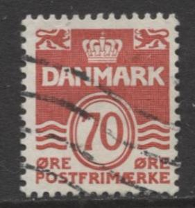 Denmark - Scott 497 - Definitive Issue -1972 - Used - Single 70o Stamp