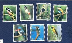LAOS -  1608 // 1615  - FVF MNH - BIRDS - 2004