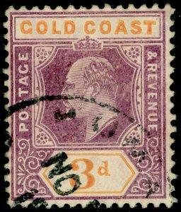 GOLD COAST SG53a, 3d dull purple & orange, FINE USED. CHALKY