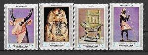 Ajman MNH Set Of Egyptian Artifacts