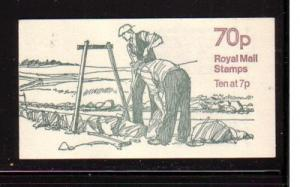 Great Britain Sc BK326 1978 Dry Stone Wall 70 p booklet NH