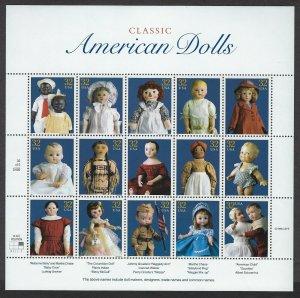 U.S.#3151 CLASSIC AMERICAN DOLLS  MINT, VF, NH   FULL SHEET @ FACE VALUE!
