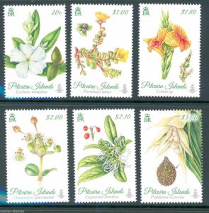 PITCAIRN ISLANDS 2014 FLOWERS SET (6) MINT NH