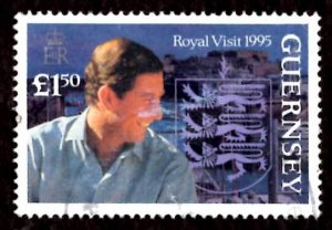 Guernsey 1995 Prince of Wales Charles 1v £1.50 Scott.558 Used