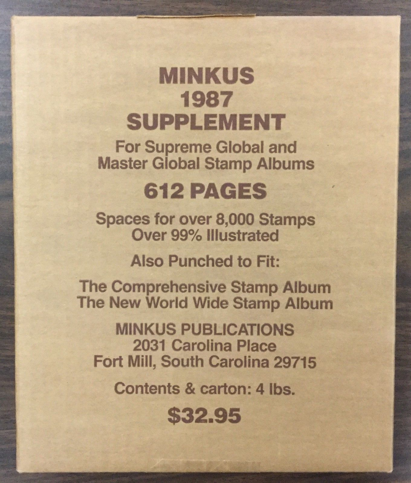 BJ Stamps} MINKUS 1987, Global Supplement  Brand new  / HipStamp
