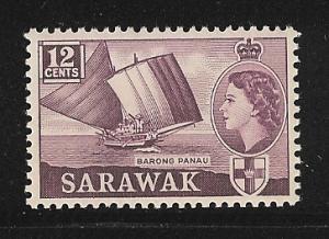 Sarawak 1956-57 QEII Mnh S.C. 203