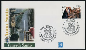 Italy 2335 on Anno Santo cover - Holy Year, Adoration of the Shepherds