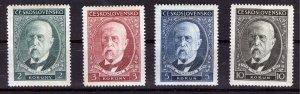 Czechoslovakia, 1930, birthday of Masaryk, complete set, Pofis 261 - 4