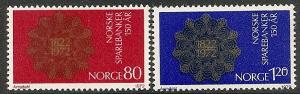 Norway  582-83 MNH 1972 Savings Bank Sesquicentennial