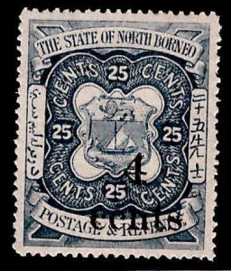 North Borneo Scott 130 Surcharged 1904 stamp