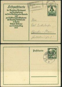 GERMANY Winterhilfe Fund Harvest Day Festival Postal Stamp Stationery Cards 1935
