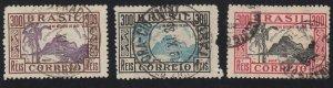 Brazil - 1935 - SC 414-15,417 - Used - Short set