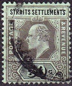 MALAYA STRAITS SETTLEMENTS 1910 KEVII 50 Cents Black/Green SG164 Used