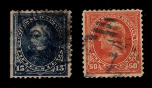 US #'s 274 & 275 - Used - Both with Flaws(See Scans) - Cat:$57.50
