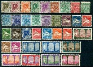 HERRICKSTAMP ALGERIA Sc.# 33-67 1926-39 Complete, Fresh, Hard to Find NH (35)