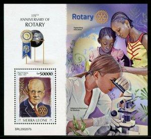 SIERRA LEONE 2020 115th ANNIVERSARY OF ROTARY SOUVENIR SHEET   MINT NH
