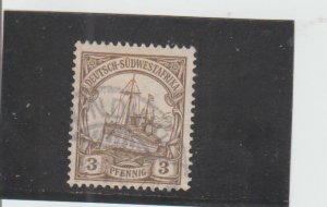 German South West Africa  Scott#  26  Used  (1907 Hohenzollern)