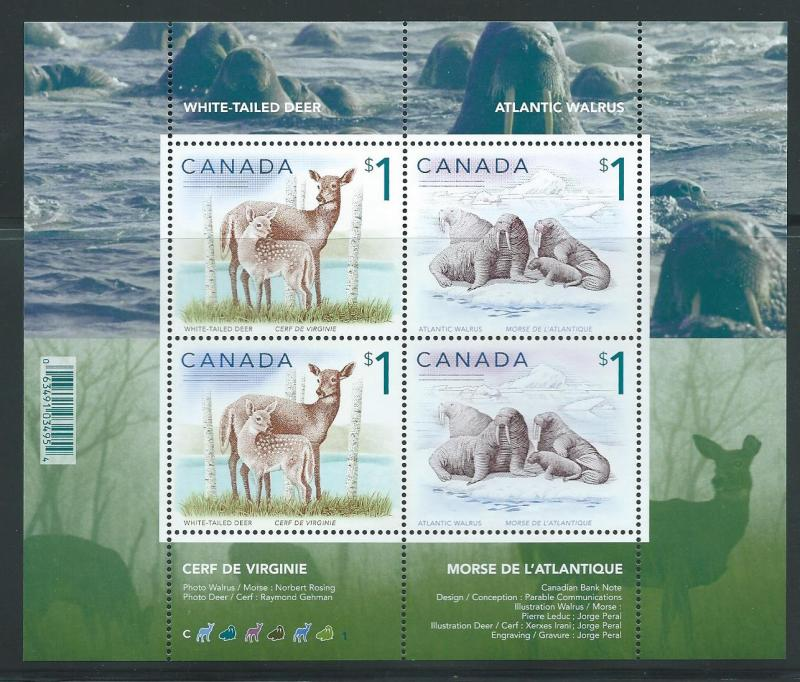 Canada 1689b 2005 $1 Animals s.s. Mint Never Hinged