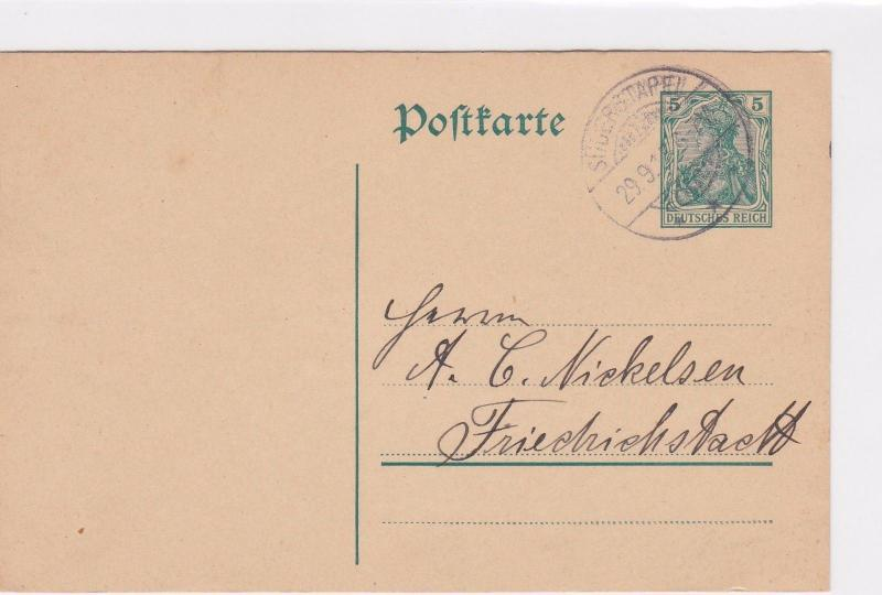 GERMAN 1915 POSTCARD  CANCELLED     R3009