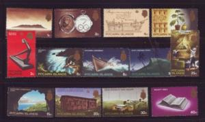 Pitcairn Islands Sc 97-109 1969 views stamp set mint NH