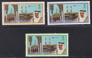 Saudi Arabia # 1081-1083, King Fahd Custodian of Holy Mosques, NH, 1/2 Cat.