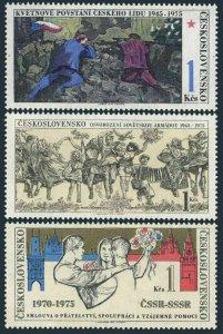 Czechoslovakia 2002-2004 two set,MNH. Czech Mat Uprising,Liberation WW II,1975.