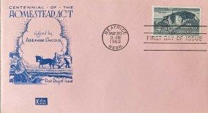 Kolor Kover 1198 Abraham Lincoln Signed the Homestead Act Beatrice Nebraska