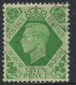Great Britain - Scott 244 - KGVI Definitive -1937 - FU - Single 7p - Stamp