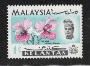 Malaysia Kelantan Scott 91a MNH** Flower stamp
