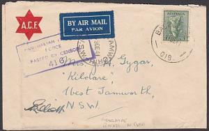 AUSTRALIA 1941 censor cover BASE PO /018 Adelaide River Nth Territory......57299