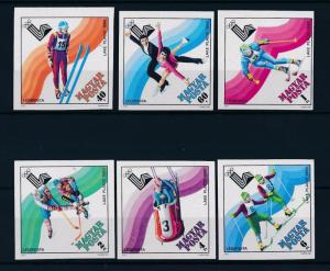 [46708] Hungary 1979 Olympic games Lake Placid Skiing Icehockey Imperf. MNH
