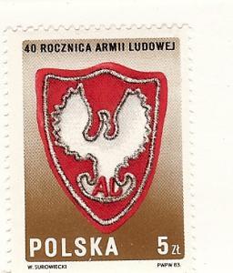 Poland, 2602, People's Army - 40th Anniv. Single, MNH