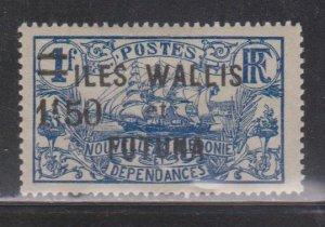 WALLIS & FORTUNA ISLANDS  Scott # 39 MH - Overprint & Surcharge